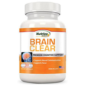 Brain Support Supplement - Brain Clear with Ginkgo Biloba, St John's Wort, Bacopa & Boosters - Improves Focus & Memory Fatigue Naturally - Supports Neural Communication & Mind Clarity - 30-Day Supply