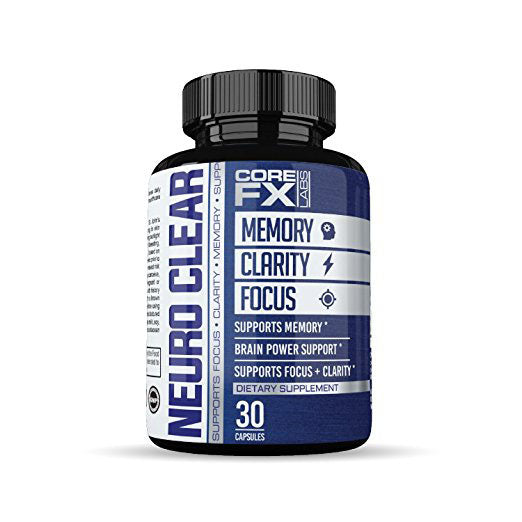 Brain Function Support by CoreFX Labs Memory Booster Clarity Supplemnt Focus Enhancer Mental Focus Nootropic-Memory & Focus Brain Supplement with Ginko Biloba St Johns Wort Bacopa Monnieri USA Made