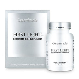 Ceramiracle First Light™ Ceramides Skin Supplement with Phytoceramides, Hyaluronic Acid, and L-Glutathione for Anti-Aging, Hydration, and Wrinkle Repair