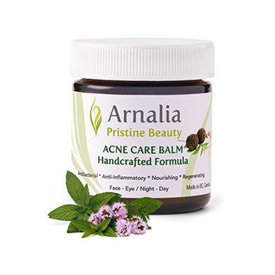 ARNALIA Acne Care Treatment - Rosacea Rapid Clear Balancing Balm - Organic Skin Care - 100% Natural Recipe, Hand-Picked, Wild-Grown Ingredients - Scar Removal Cream, Get Rid of Acne Scars (20ml)