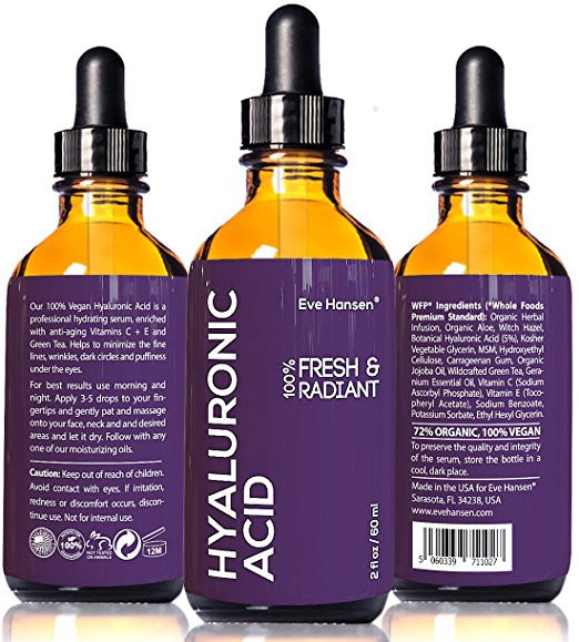 2 oz Hyaluronic Acid - Facelift in a Bottle #2 - 100% Vegan Professional Hydrating Serum