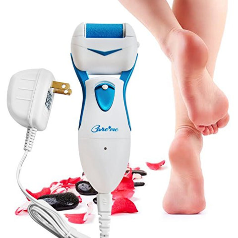 Care me Powerful Electric Foot Callus Remover Rechargeable -Top Rated Electronic Pedicure Foot File Removes Dry, Dead, Hard, Cracked Skin & Calluses- Best Foot Care Tool for Soft, Smooth Feet