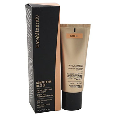 bareMinerals Complexion Rescue Tinted Hydrating Gel Cream SPF 30, Suede 04, 1.18 Ounce