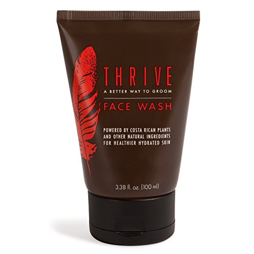 Thrive Natural Face Wash for Men – Daily Facial Cleanser for Men with Unique Premium Natural Ingredients for Healthier Men's Skin Care - Mens Face Wash