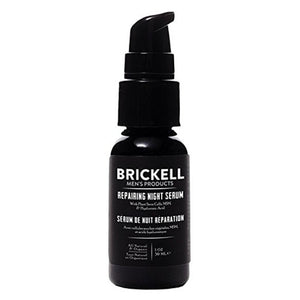 Brickell Men's Anti Aging Repairing Night Serum for Men – Natural & Organic Vitamin C Face Serum - 1oz