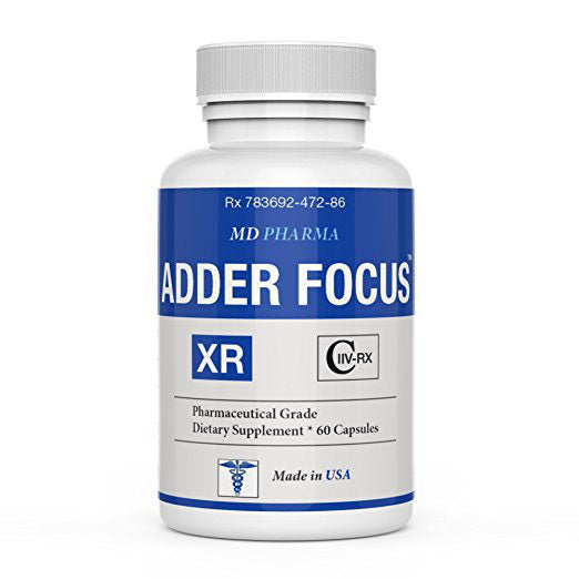 ADDER FOCUS XR ® (Pharmaceutical Grade OTC - Over The Counter – Brain Booster Pills) – Enhance Focus Factor - Increase Memory, Mental Alertness, Clarity & Energy - Clinically Proven Ingredients