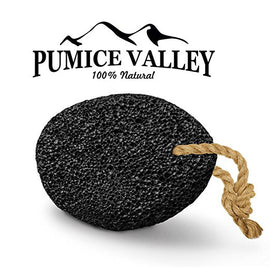Pumice Valley - Natural Lava Pumice Stone Black - Callus Remover for Feet Heels and Palm - Pedicure Exfoliation Tool - Remover Toxins - Corn Remover for Foot - Dry Dead Skin Scrub - Health Foot Care