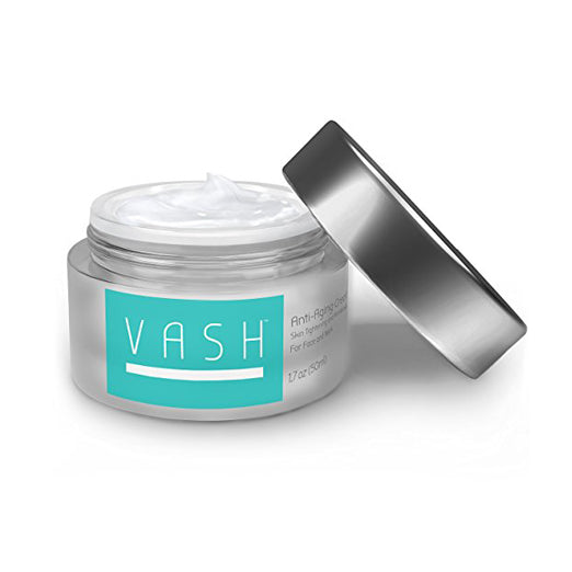 Vash Anti Aging Cream - Skin Tightening and Anti Wrinkle - Intensive Night Cream for Face and Neck, 1.7oz (50ml) Great Crepe Erase Cream and Skin Recovery