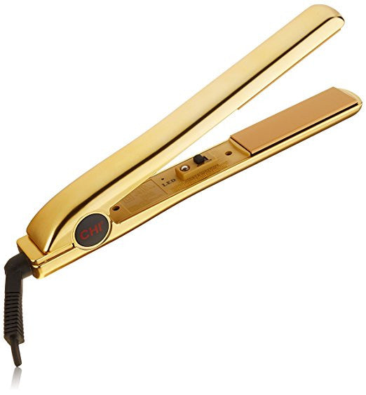 "CHI PRO 1"" Ceramic Flat Iron in Keratin Gold with Free Gifts - Ionic Tourmaline Hair Straightener"