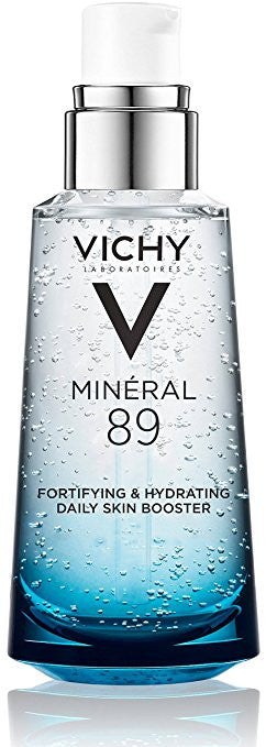 Vichy Mineral 89 Fortifying, Hydrating & Plumping Daily Skin Booster, Face Moisturizer with Hyaluronic Acid, 1.67 Fl. Oz.