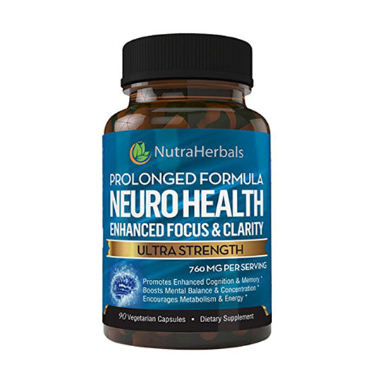 "Brain Booster Supplement – Nootropic Supports Mental Clarity, Memory & Focus. Scientifically Formulated For Prolonged Performance - DMAE, Bacopa, Rhodiola Rosea Extract and more. ""90 Day Supply"""