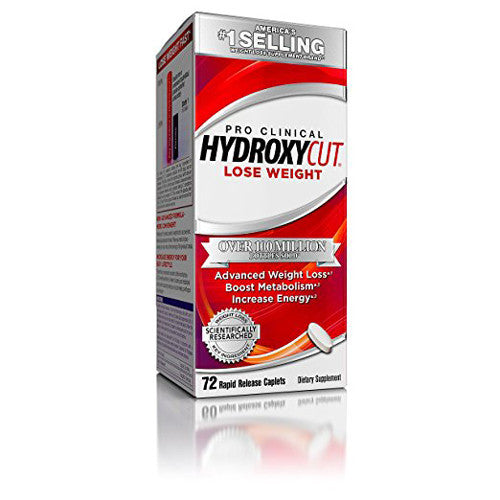Hydroxycut Pro Clinical, America's Number 1 Selling Weight Loss Brand, Weight Loss Supplement 72 Caplets