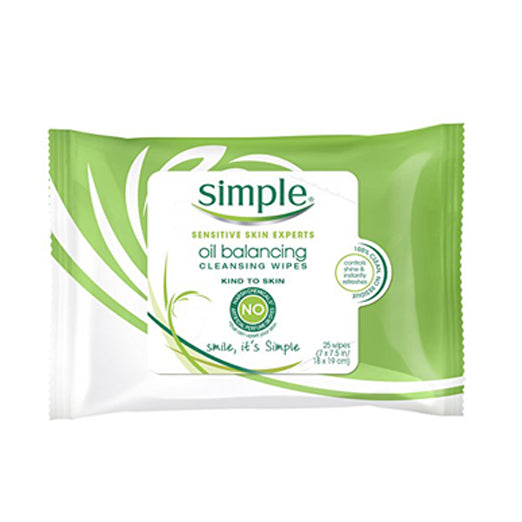 Simple Kind to Skin Facial Care, Oil Balancing Wipes 25 count