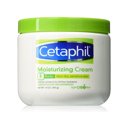 Cetaphil Moisturizing Cream for Very Dry/Sensitive Skin, Fragrance Free 16 oz