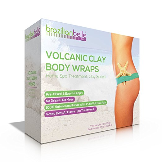 Brazilian Bentonite Clay Body Wraps (10 Applications) | Complete Weight Loss, Slimming & Toning System that Gently Warms as you Wear | New & Improved with Bentonite, Aloe Vera, & Infused with Vitamins