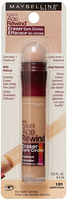 Maybelline New York Instant Age Rewind Eraser Dark Circles Treatment Concealer, Light, 0.2 fl. oz.