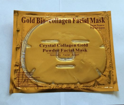 Luxurious 24k Gold Bio-collagen Facial Mask (5pcs) By Pro Natural Inc. by EBP Medical