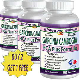3 Best Fat Burner, Appetite Control Metabolism Boost Weight Loss Management Formula, Pure Garcinia Cambogia Extract HCA, 3000mg That Work FAST for men women STRONG EXTREME Flat Belly Natural Diet Pill