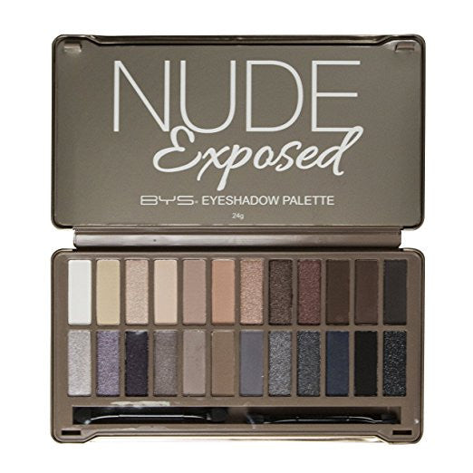 "BYS 24 Shade Eyeshadow Palette with Mirror, ""Nude Exposed"""