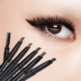 1pcs Women Ladies Waterproof Double Head Makeup Automatic Eyebrow Pencil with Eye Brows Brush Makeup Cosmetic Beauty Tools