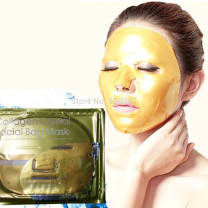 Hot 1pcs Gold Collagen Crystal Face Masks Anti Ageing Skin Care Facial Mask