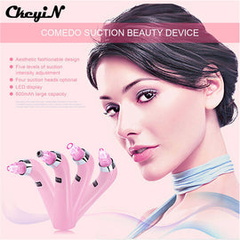 CkeyiN 4 Tips 5Level Skin Care Diamond Microdermabrasion Peeling Machine Facial Acne Pore Blackhead Vacuum Suction Beauty Device