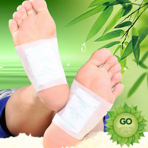 Hot 10PCS Adhesives Detox Foot Patch Bamboo Pads Patches With Adhesive Improve Sleep Beauty Slimming Patch
