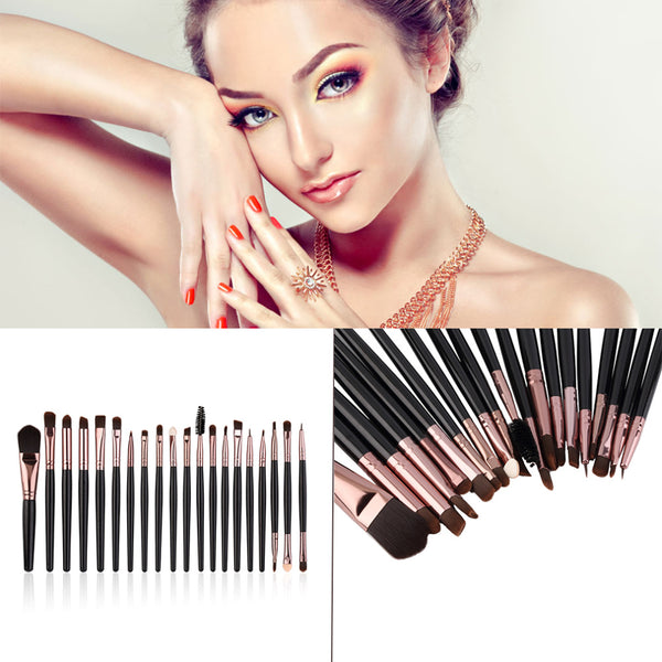 New Professional 20Pcs Cosmetic Makeup Brush Set,Foundation Eyeshadow Eyeliner Lip Brand Make Up Brushes Set ,beauty brush
