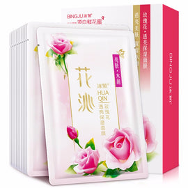 10pcs/set Rose Flower Type Facial Cleaning Mask Smooth Moisturizing Skin Care Whitening Beauty Mask