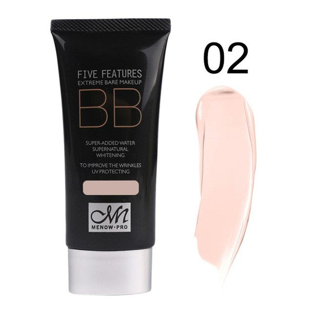 50ML Menow 2#/8# Skin/Dark Skin Color Facial Beauty Makeup Concealer Portable Size Natural Whitening Moisturizing BB Cream