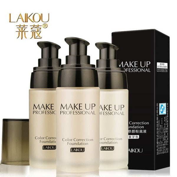 2017 New Women Pro 3 Colors Nude Makeup Face Foundation Liquid Cover Concealer Long Lasting Moisturizing Facial Base Liquid