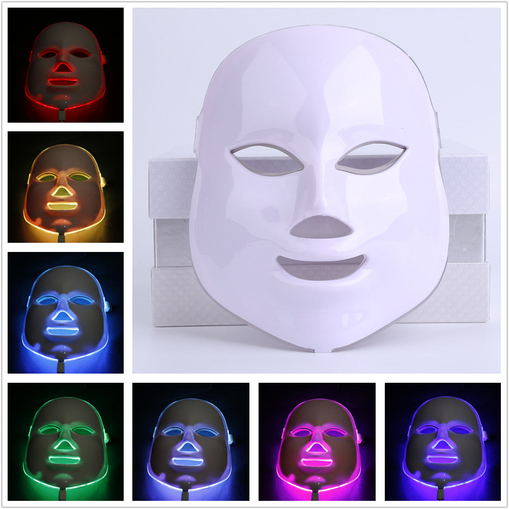 7Colors LED Facial Mask Home LED Photodynamic Beauty Face Mask Use Beauty Instrument Anti acne Skin Rejuvenation Repair Skin