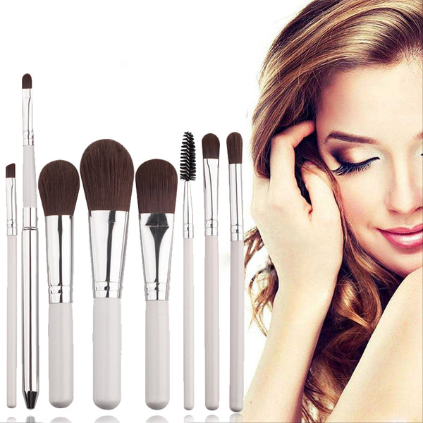 New Arrival 8pcs Beauty Tool Kit Set Makeup Brushes Foundation Blending Blush Make Up Brush M03445