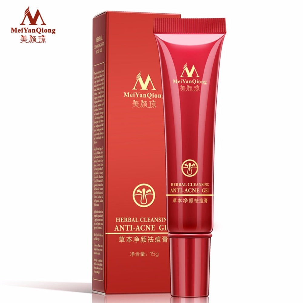 MeiYanQiong Herbal Cleansing Acne Cream Facial Makeup Repair Skin Pores Acne Removing Cream Beauty Face Anti-Acne Gel