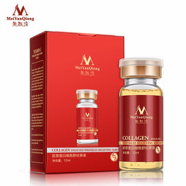 MeiYanQiong 12ml Collagen Delicate Wrinkle Relieving Serum Hyaluronic Serum Skin Moisturizer Repair Face Skin Collagen Liquid