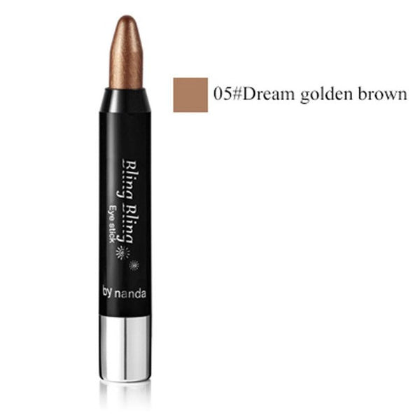2017 New 1pc Beauty Highlighter Eyeshadow Pencil Cosmetic Glitter Eye ShadowPen #623