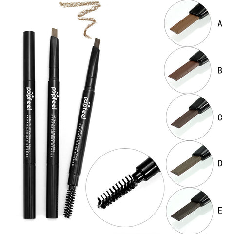 Popfeel maquiagem Cosmetics Makeup Double Automatic Ration Eyebrow Eyeliner Pencil Tool For Women Beauty Dropship