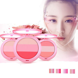 BY NANDA Beauty Face 3 Color Blush Makeup Baked Cheek Blusher Palette #X1.8