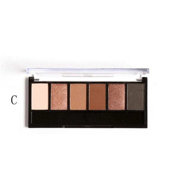 Focallure Professional 6 Colors Eyeshadow Palette Retro Earth Warm Shimmer Matte Beauty Makeup Set Smoky Eye-shadow Charming#623