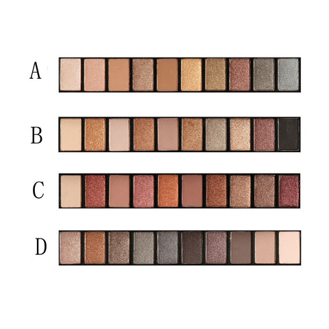 Professional 10 Color Eyeshadow Palette Earth Warm Shimmer Matte Beauty Makeup Set Smoky Eye-shadow #623