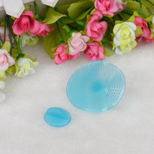 1 pcs Makeup Blackhead Remover Cleansing Wash Scrub Brush Tool Silica Gel Pad Beauty Puff