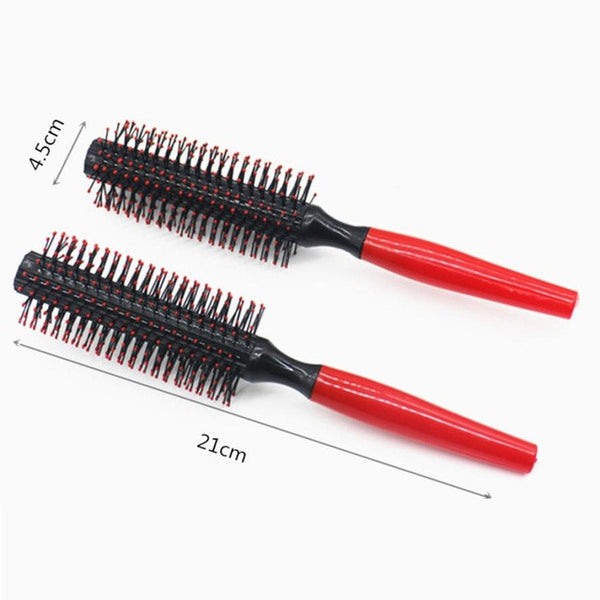 Reducing Hairloss Care Hair  Roll Brush Round Hair Comb Wavy Curly Styling Care Curling Beauty salon  2*
