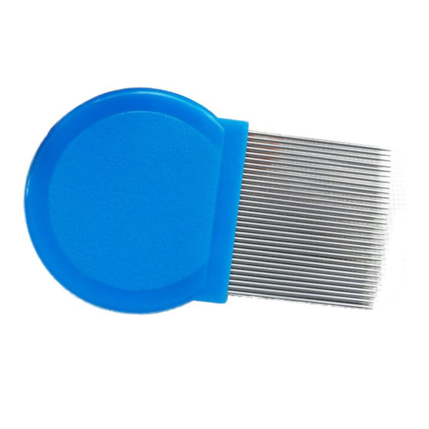 3 Colors At Random Care Hair Clear Fleas Hair Comb Terminator Lice Comb Hair Rid Headlice Stainless Steel Metal Teeth 2*