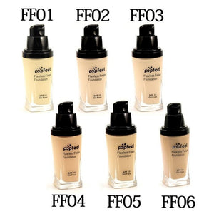 POPFEEL 2017 New Face Foundation Makeup Base Flawless Liquid Foundation Oil Free Cosmetic Face Concealer BB Cream Makeup