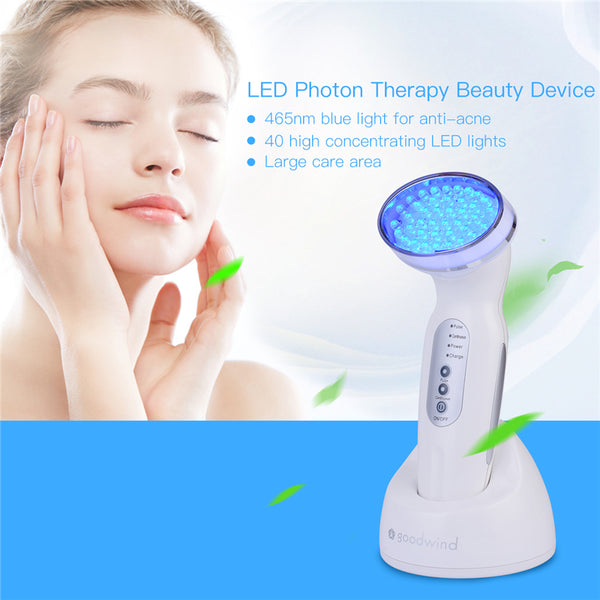 PH Electric Facial Beauty Massage Skin Health Care Photon Red Light Therapy Device Moisturize Anti Aging Acne Wrinkle 121-2930