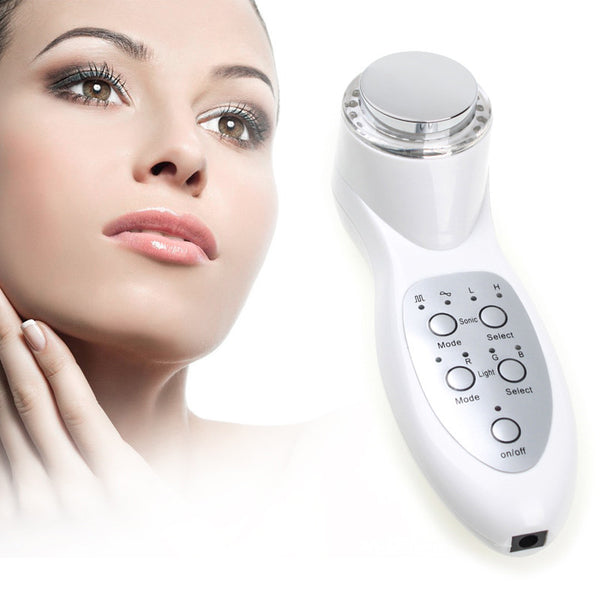 Portable Ultrasonic 7 Mode Photon Lights Skin Instrument For Facial Lift Care Face Skin Cleaner Wrinkle Remover Beauty Massage