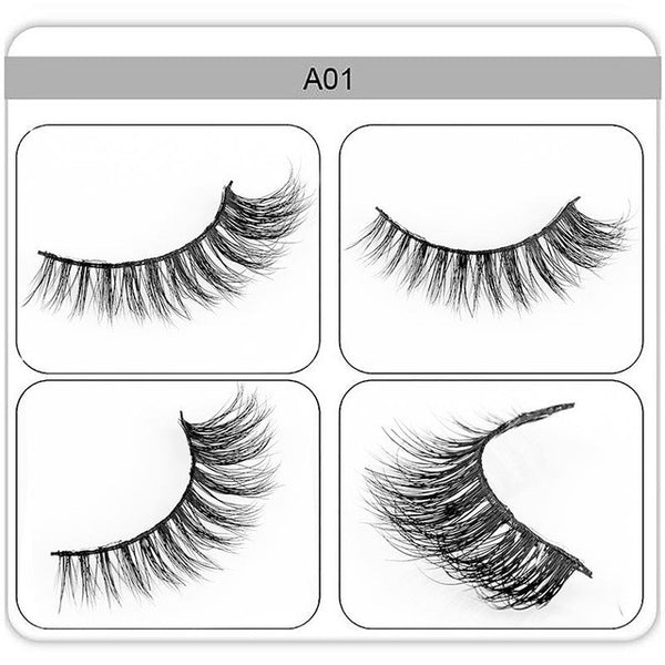 zwellbe 1 pair 3D Mink  Eyelashes False Eyelashes Soft Natural Upper Eyelashes Handmade Fake Eye Lashes Extension for Make Up