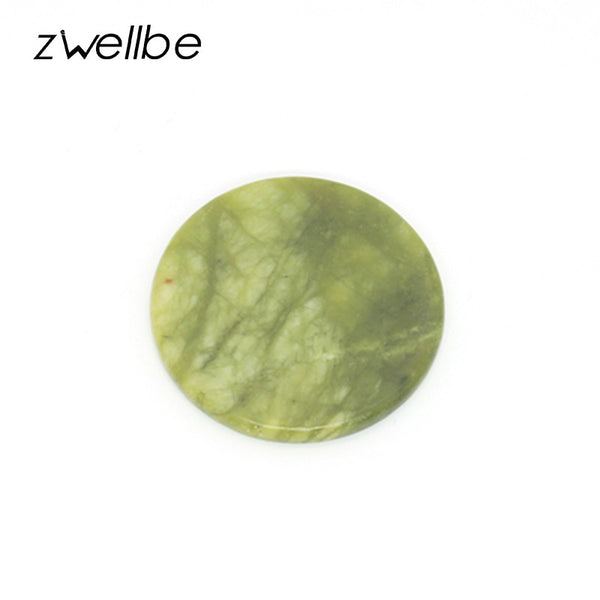 zwellbe 1pcs High Quality Round Jade Stone Eyelash Extension Glue Adhesive Pallet Stand Holder Fake Eye lash Makeup Tool