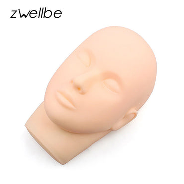 zwellbe Training Mannequin Flat Head Grafting Eyelashes Trainer Tool Massage Mannequin Head For Eyelash Extension Practice