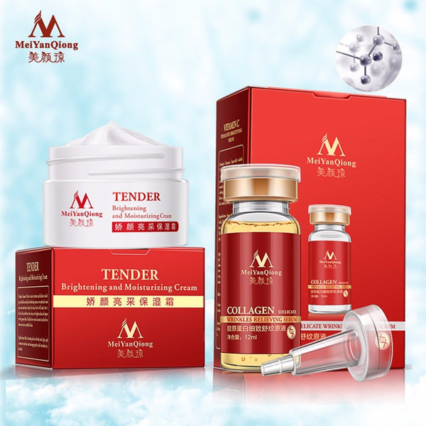 Skin Care Lift Essence Face Cream Tender Anti-Aging Moisturizing Removal Face Cream Set with Collagen Anti-wrinkle Stoste